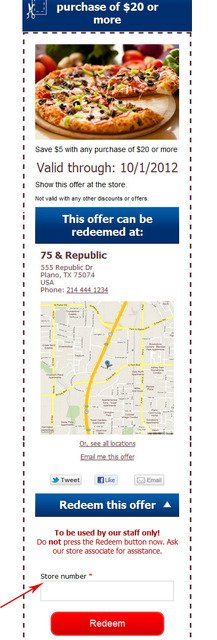 Smartphone Coupon Marketing System