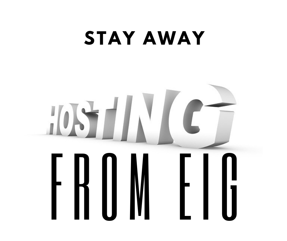 Stay Away From EIG Hosting Providers