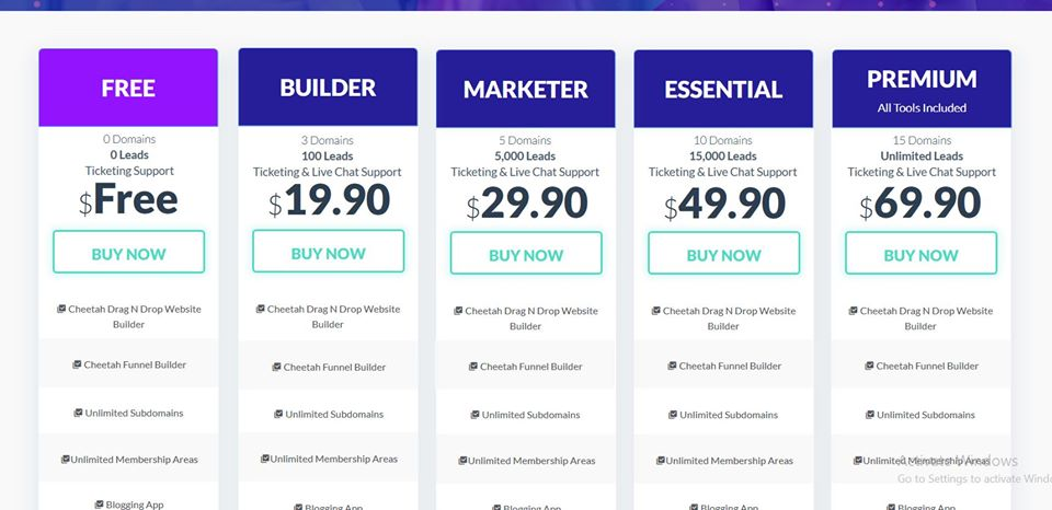 Builderall Pricing